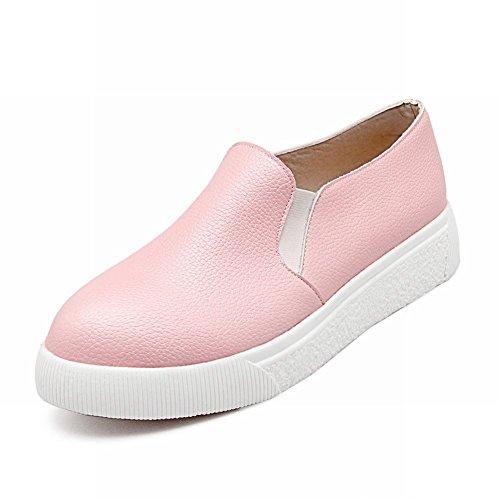 Mocassini Slip-on Piattaforma Moda Donna Latasa, Scarpe Comfort Rosa