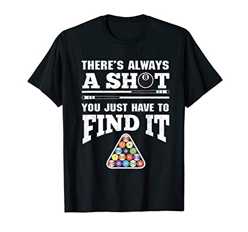 Billiards T-Shirt Funny Pool Player Tee Gift