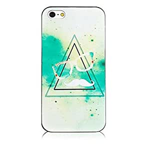 LIMME- Shading Triangle Pattern Black Frame Back Case for iPhone 4/4S