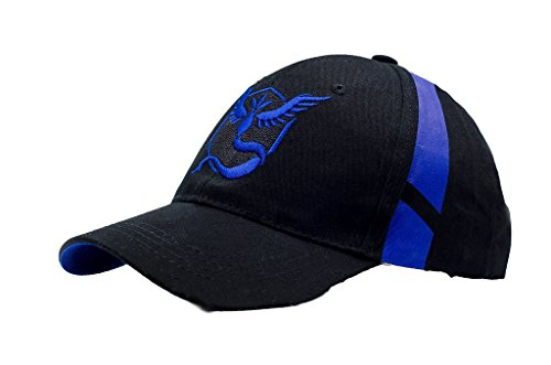 Embroidered Pokemon Go Hats Generation 2 Team Mystic Blue Color USA (Pokemon Trainer Couples)