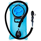 Add-gear Hydration Bladder 2 L FDA Approved Antibacterial TPU Water Bladder with 108cm/42in Insulated Hose & Lockable Bite Valve and wide opening