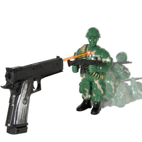 New Kids Toy Military Soldier Laser Shooting Playset Game Great Gift (Military Toy Guns)