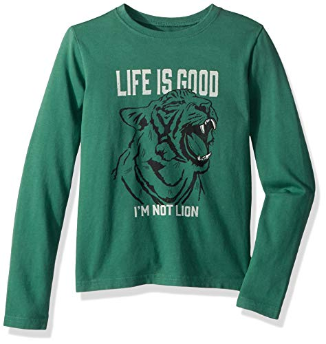 Life is Good Boys Crusher Graphic Long Sleeve T-Shirt Collection,I'm Not Lion,Small ()