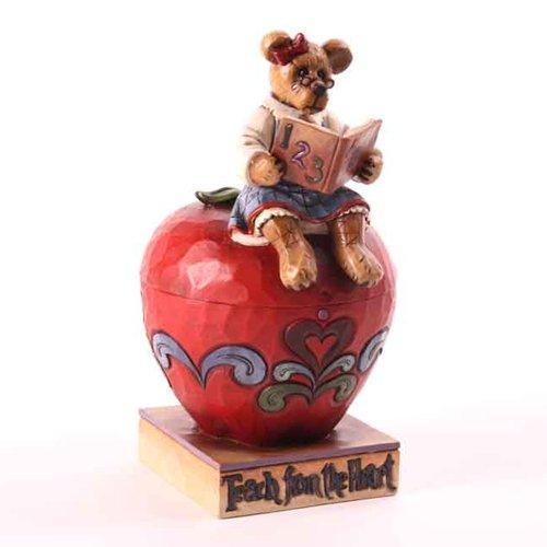 - Jim Shore Boyd's Bears Teach From The Heart Apple Figurine