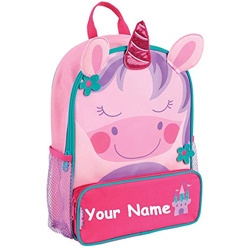 Personalized Sidekick Unicorn Pink and Purple Backpack With Custom Name