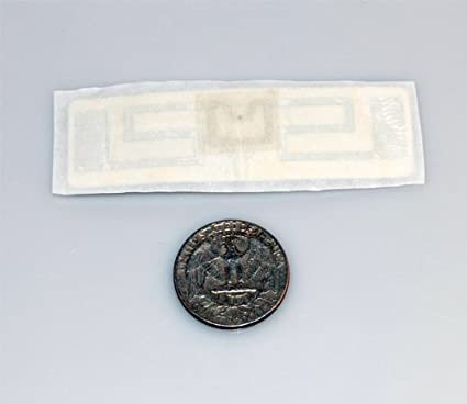 Amazon UHF RFID Tag For Flex Surface Tape On Back EPC Gen2