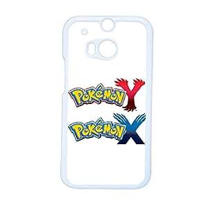 Generic Boys Fashionable For Htc M8 Rigid Plastic Print With Pokemon X And Y Phone Shells