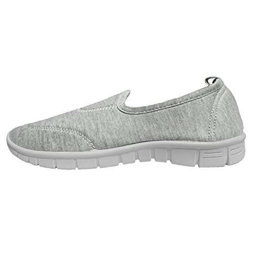 DAMEN PUMPS COMFORT WALK FLEXI-SPORTS HOLIDAY GRÖSSE SCHUHE SNEAKER GO Grau