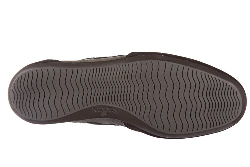 Hogan chaussures baskets sneakers homme en daim olympia slash h flock marron