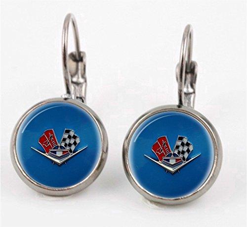 - Vintage Corvette Emblem Leverback earrings
