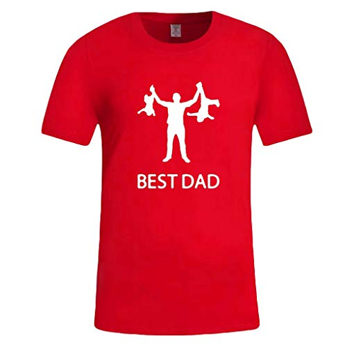 (Men's Summer Casual Print Short Sleeve T-Shirt Gift for Worlds Best DAD Tops)