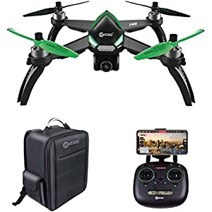 Contixo F20 GPS RC Quadcopter Photography Drone | 5GHz WiFi1080P FHD Gimbal Camera, Follow Me, Follow Me Waypoint 20 Minute Flight Time Brushless Motors 413Dy3f4HaL