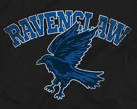 Harry Potter Distressed Ravenclaw Raven Adults Unisex Black Sweatshirt