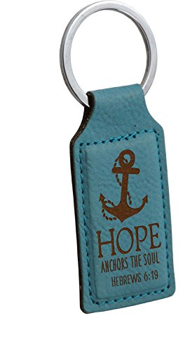 Hope Anchors the Soul Hebrews 6:19 Faux Leather Keyring Keychain (LKC10) (Daughter Anchor)