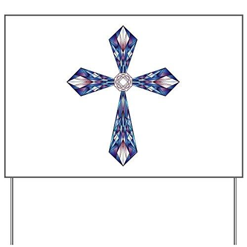 Stained Glass Yard Sign (Yard Sign Stained Glass Cross)