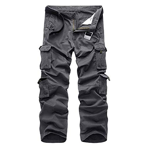 Unis Grau Décontracté Vêtements Cargo Pantalon Lâches Sans Solid Pour Ner Couleurs Poches Multiples Bermuda Fête De Hommes Long Garçons Zqw7fqURx
