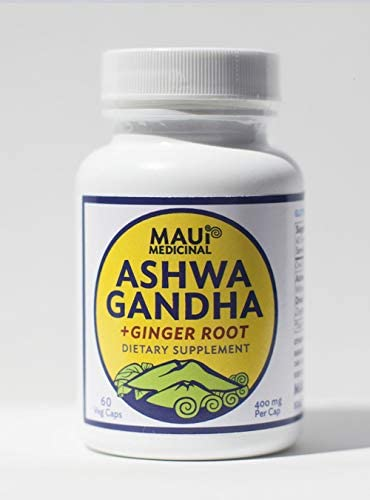 Ashwagandha Ginger 60 400mg V-caps Hawaiian