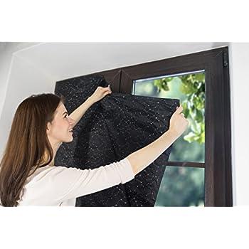 kenley portable blackout blinds travel black. Black Bedroom Furniture Sets. Home Design Ideas