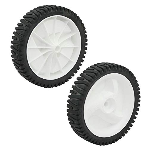 Craftsman 584465301 Lawn Mower Rear Wheel and Craftsman 532403111 Lawn Mower Front Drive Wheel Bundle
