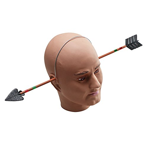 Bristol Novelty GJ005 Arrow Through Head Halloween Accessory Set, Unisex-Adult, Multi-Colour, One -