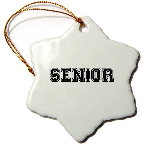 3dRose orn_151251_1 Senior High School or College or University School Year Souvenir Snowflake Porcelain Ornament, 3-Inch