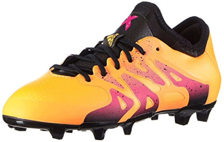 adidas Unisex Babies X 15.1 FG/AG J Football Boots, Naranja / Negro / Rosa (Dorsol / Negbas / Rosimp), 1 UK