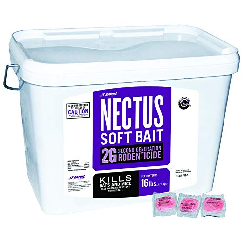 JT Eaton 716-S Nectus Soft Bait 2G Second Generation Rodenticide, Bait for Rats and Mice, 16-Pound Pail (Soft Bait Mice)