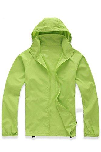 (JireH Women's Lightweight Rain Skin Coat Fruit Green L )