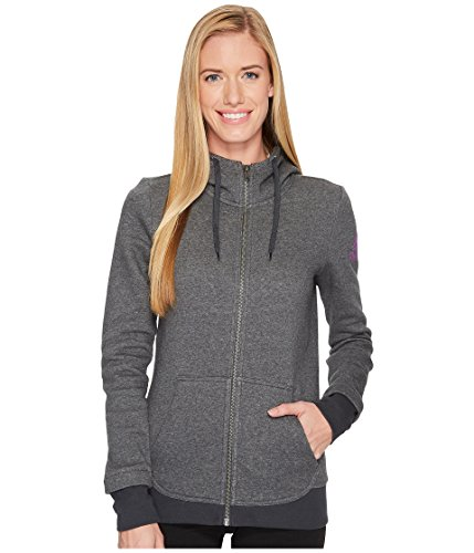 Reebok Full Zip Fleece, XX-Small, Dark Grey Heather
