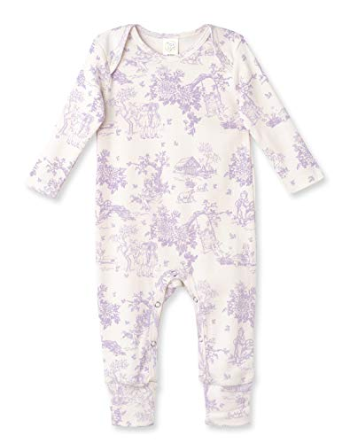 Tesa Babe Spring Floral Romper for Newborns, Baby Girls & Toddlers, Multi (Lavender Toile, 0-3 Months) (Toile Baby Girl)