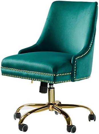 Velvet Fabric Adjustable Task Chair
