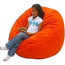 Cozy Sack 3-Feet Bean Bag Chair, Medium, Pumpkin