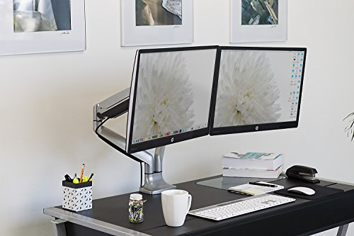 Mount-It! Dual Monitor Desk Mount Arm, Height Adjustable Full Motion Monitor Stand With Gas Spring Arms, Fits 24, 27, 29, 30, 32 Inch Computer Screens by Mount-It! (Image #3)