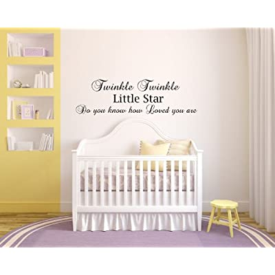 Twinkle Twinkle Little Star do You Know How Loved You are Baby Children Love nightime Bedtime Sleep Vinyl Wall Decals Quotes Sayings Words Art Decor Lettering Vinyl Wall Art Inspirational Uplifting: Baby