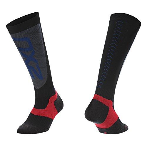 - 2XU Men's Elite Compression Alpine Socks, Black/Grey, Small