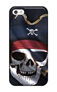 New Style Mary David Proctor Black Pirate Flag Premium Tpu Cover Case For Iphone 5/5s