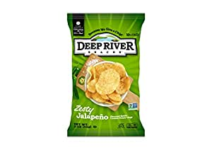 Deep River Snacks Kettle Chips, Zesty Jalapeno, 2-Ounce Bags (Pack of 24)