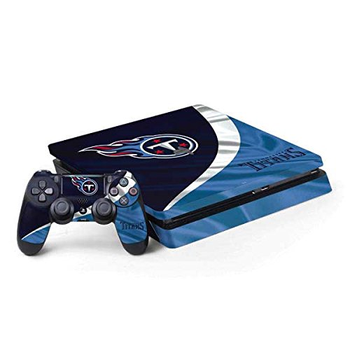 Skinit NFL Tennessee Titans PS4 Slim Bundle Skin - Tennessee Titans Design - Ultra Thin, Lightweight Vinyl Decal Protection