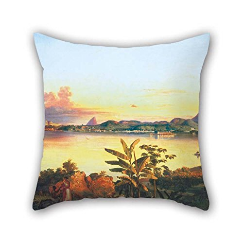 beeyoo Cushion Covers of Oil Painting Alessandro Ciccarelli - Rio De Janeiro 16 X 16 Inches / 40 by 40 cm Best Fit for Husband Chair Home Theater Family Adults ()