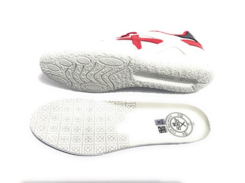 Munich Women's Goal Trainers White Red cafccph