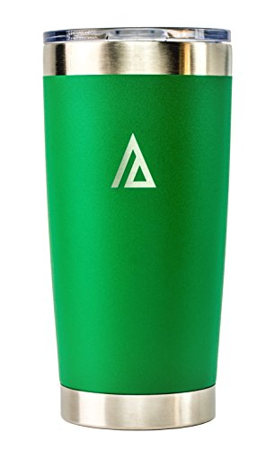 Aspen Green 20 oz Stainless Steel Tumbler with Lid, Double Walled, Vacuum insulated, Coffee Beer Mug, Cup, for Travel, Outdoor, Camping, wrapped in Velvet -
