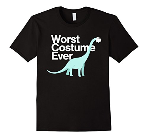 Funny School Appropriate Halloween Costumes (Mens Worst Costume Ever Funny Dinosaur Halloween Shirt Kids Adult Large Black)
