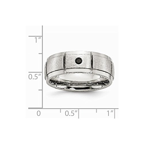 Saris and Things Stainless Steel Polished Brushed 0.05pt. Diamond 8mm Band Ring 12 Size by Saris and Things (Image #6)