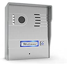 Idea Life Wifi Enabled Video Doorbell,Smart Phone Control Camera Doorbell without Keypad for Home Villas,Silver