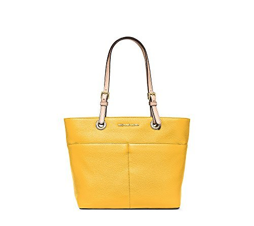 Michael Kors Jet Set Item Top Zip Tote soft leather sunflower/Gold by Michael Kors