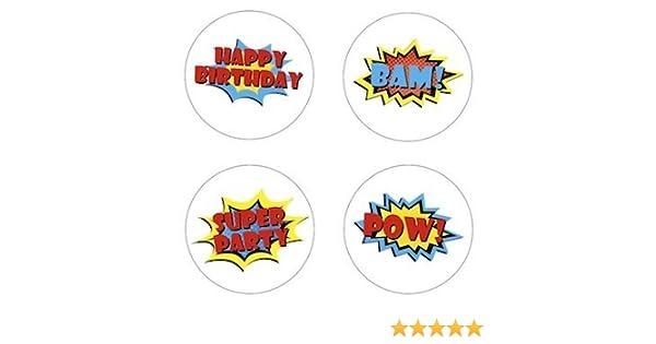 LEGO BATMAN 7.5 Inch Round Edible Cake Topper and 8 cupcake topper ~ PRECUT