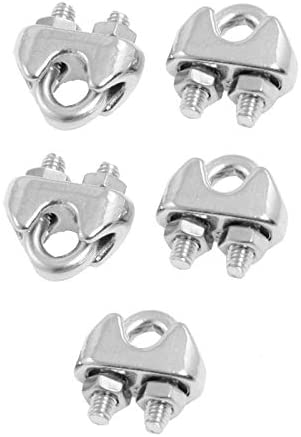Color: Grey 5 Pcs 304 Stainless Steel Saddle Clamp Cable Clip for 3//25 3mm Wire Rope for maximum corrosion resistance and durability Easy