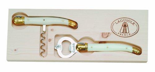 Jean Dubost Corkscrew Wine Opener Set, Ivory by Jean Dubost