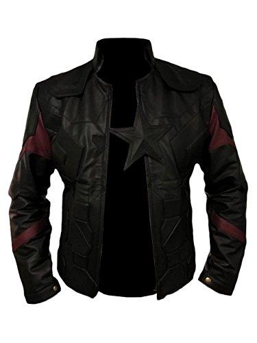leather captain america jacket - 4