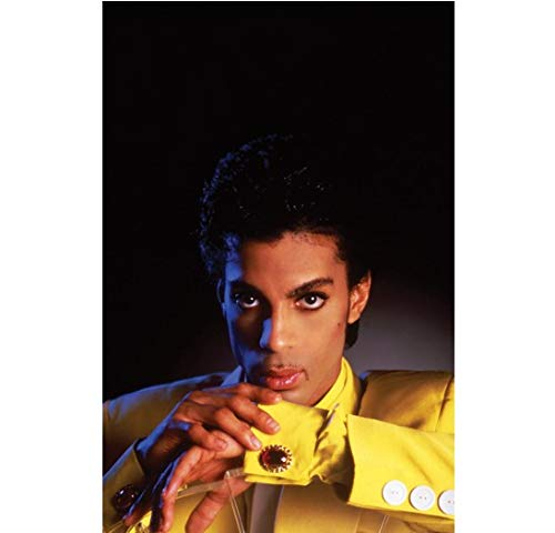 - Prince Posing in Yellow Looking Ahead with Deep Dark Eyes 11 x 17 inch Poster/Litho